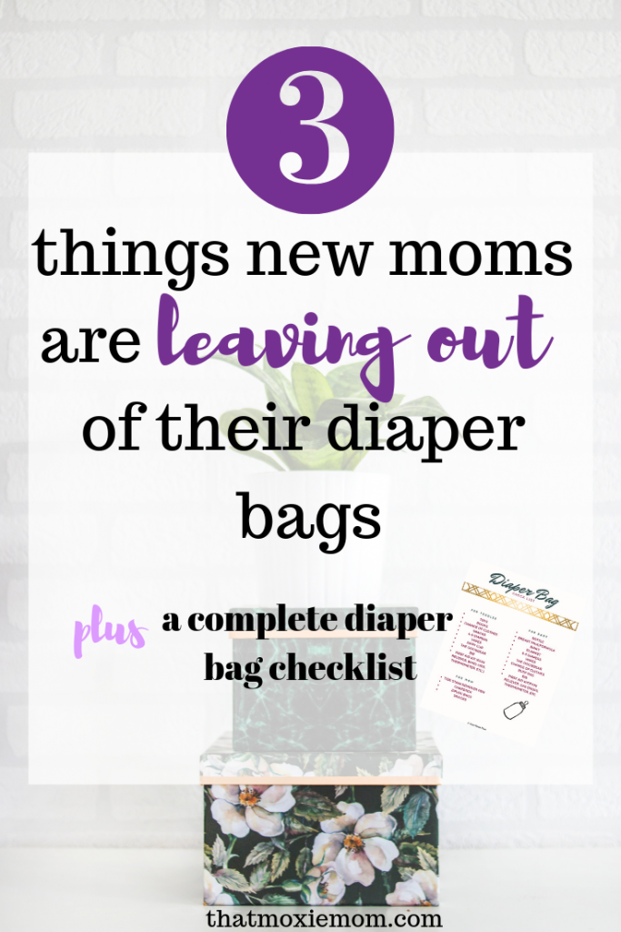 When you become a parent you need to make sure you have everything in your diaper bag. Not know what is essential to put in your bag can be stressful. There are 3 things that you are likely missing. #diaperbagessentials #newmom #diaperbag #completelist