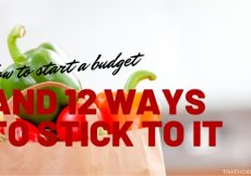 How to start a budget + 12 tips for staying on budget