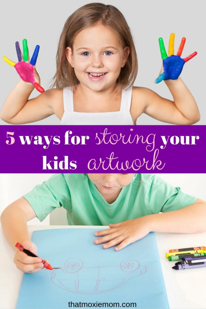 5 ways for storing your kids artwork