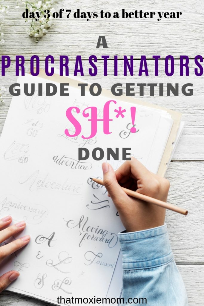 A Procrastinators Guide to Getting SH*! Done - Why do something now when I can push it off until later? That motto has come back and bit me in the butt more than once. I have tried everything to not procrastinate and I always ended back at square one. But I have learned a few tricks along the way to stop procrastinating. #procrastination #stopprocastinating #gettingstuffdone